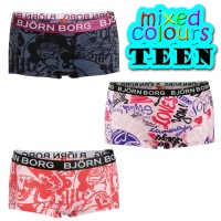3-Pakkaus Björn Borg Mini Shorts Teen Mix