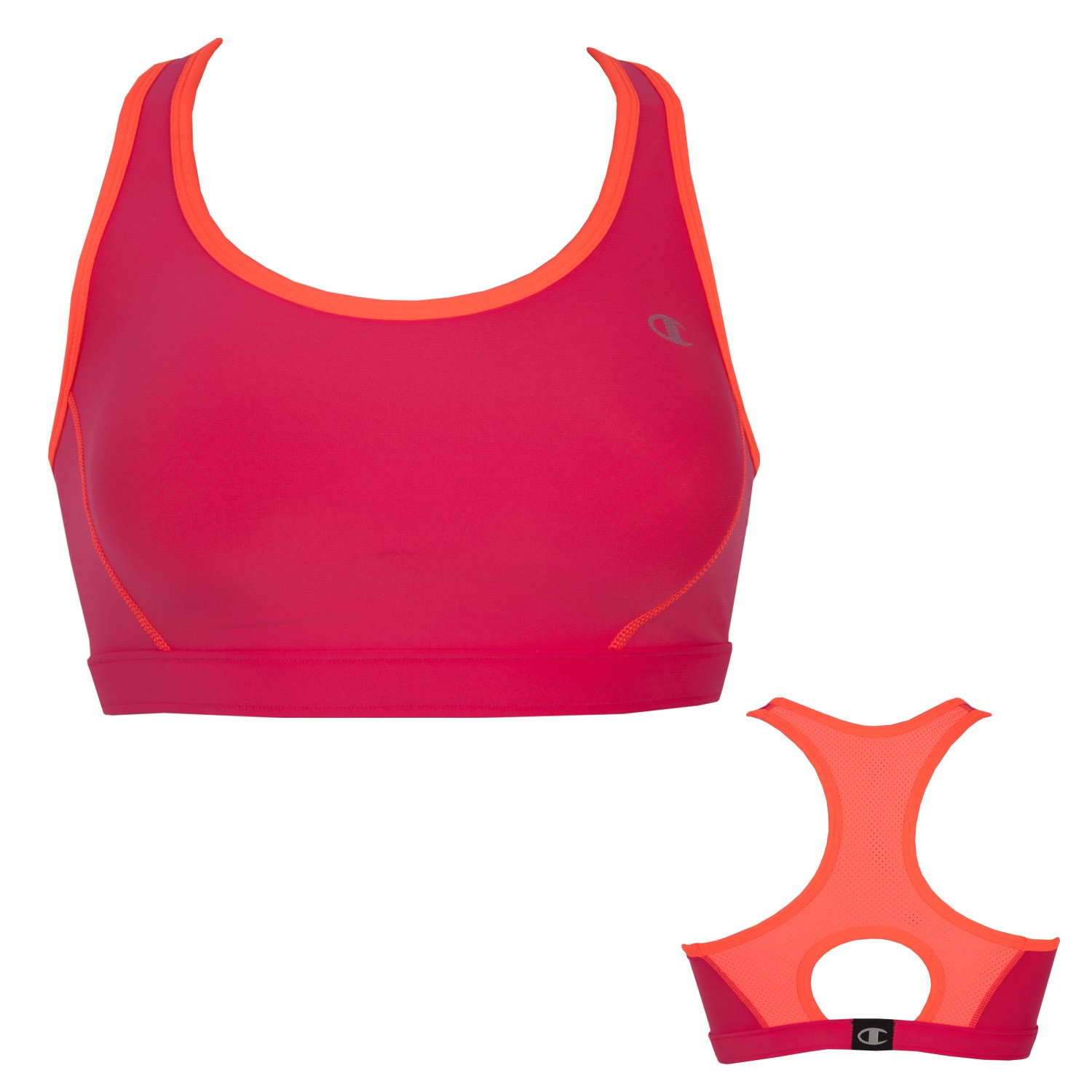 Champion Dd Compression Vented Bra Red Sports Bra