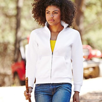 Fruit of the Loom Lady-Fit Sweat Jacket * Maksuton Kuljetus *