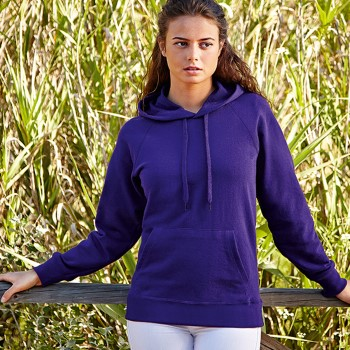 Fruit of the Loom Lady-Fit Light Hooded Sweat
