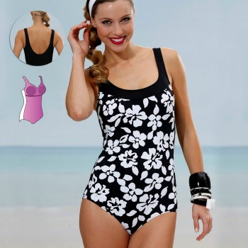 Miss Mary Swimsuit with figure shaping front 44-52