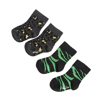 Happy socks Animal Sock Black 2-pack