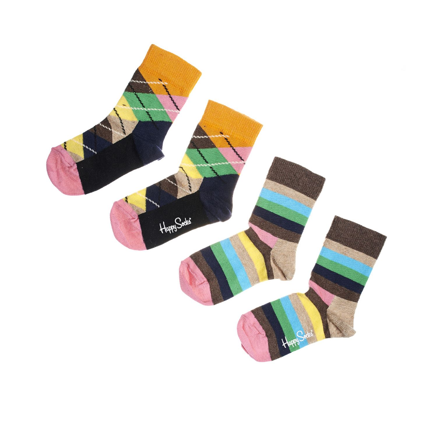 Happy socks Stripe Argyle Socks Brown