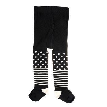 Happy socks Kids Tights Stripe Dots Black