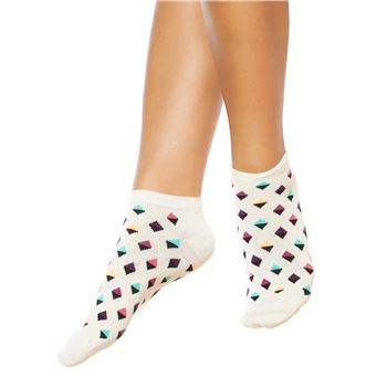 Happy socks Mini Diamond Low Sock Off White
