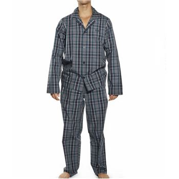 Hugo Boss Gift Box Pyjamas Check Open Blue * Maksuton Kuljetus * * Kampanja *