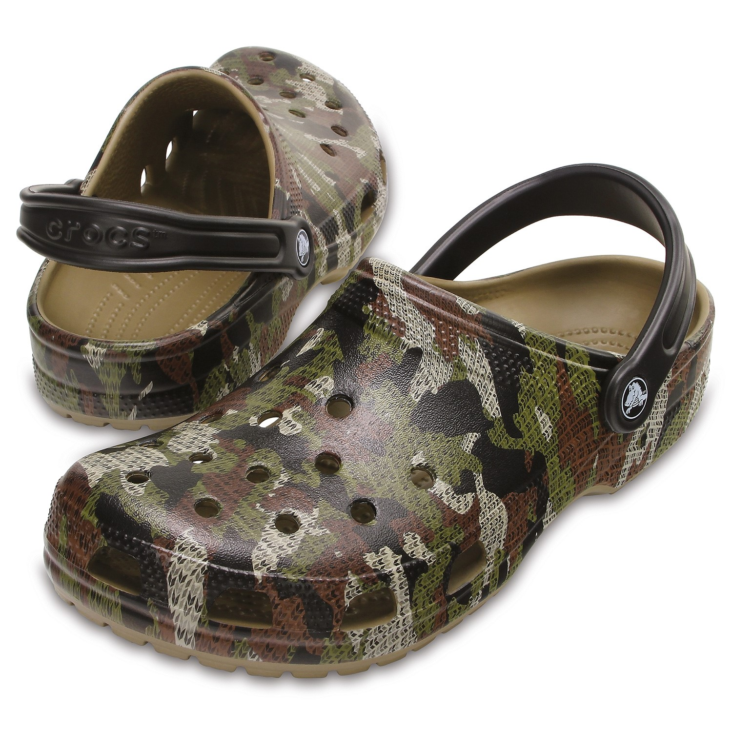 2f8bb43a62821 Crocs Classic Camo Clog Unisex - Slippers - Everyday shoes - Shoes ...