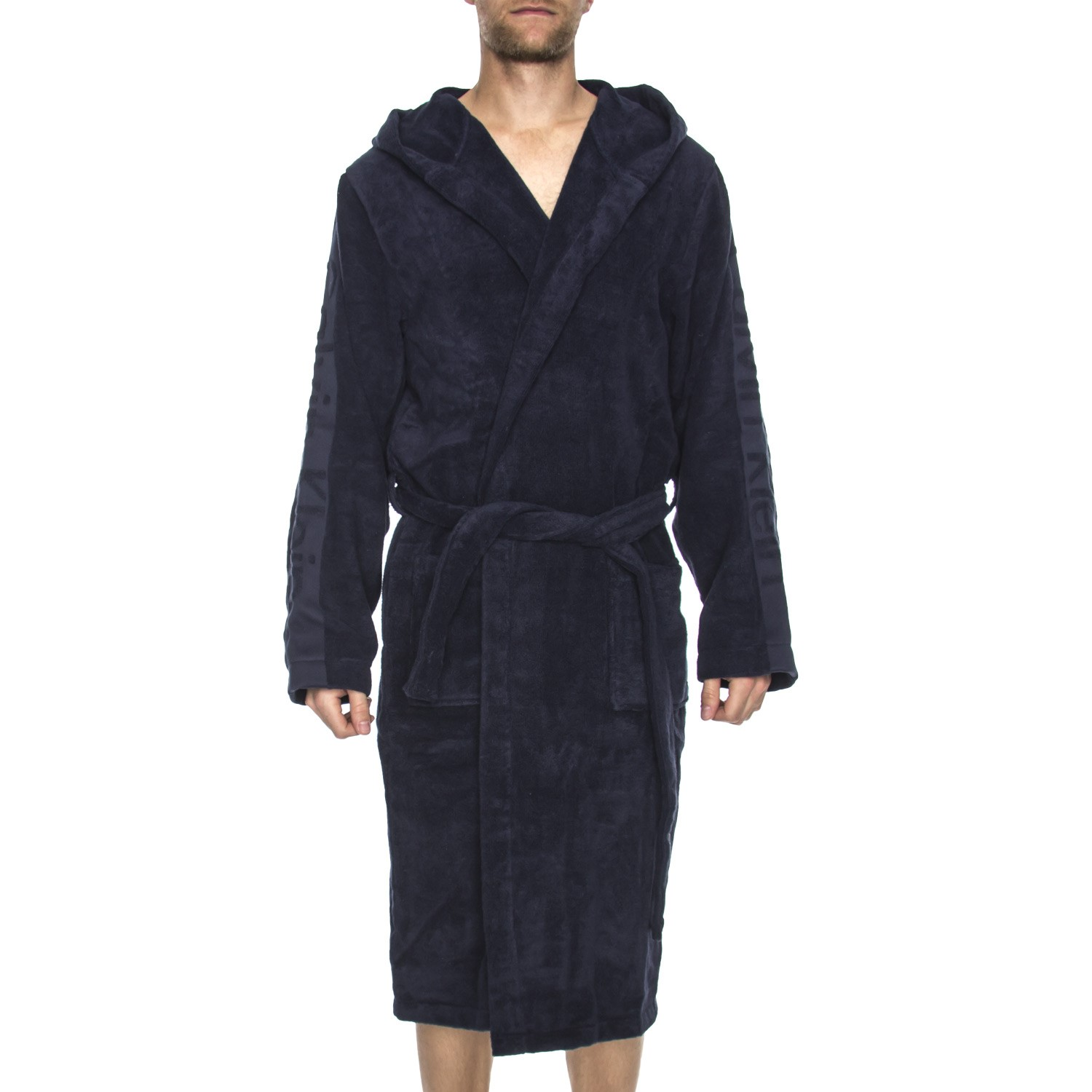 Calvin Klein Terry Logo Hooded Robe