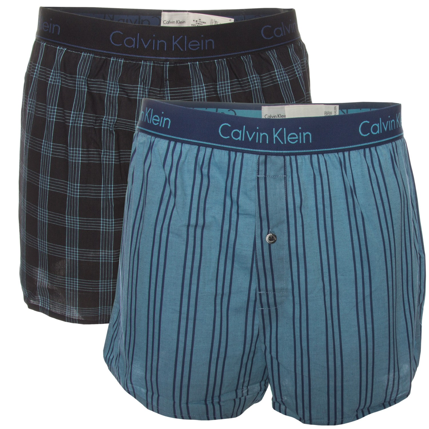 cd8f8a40e217 2-Pack Calvin Klein Slim Fit Woven Boxer - Boxer shorts - Trunks ...