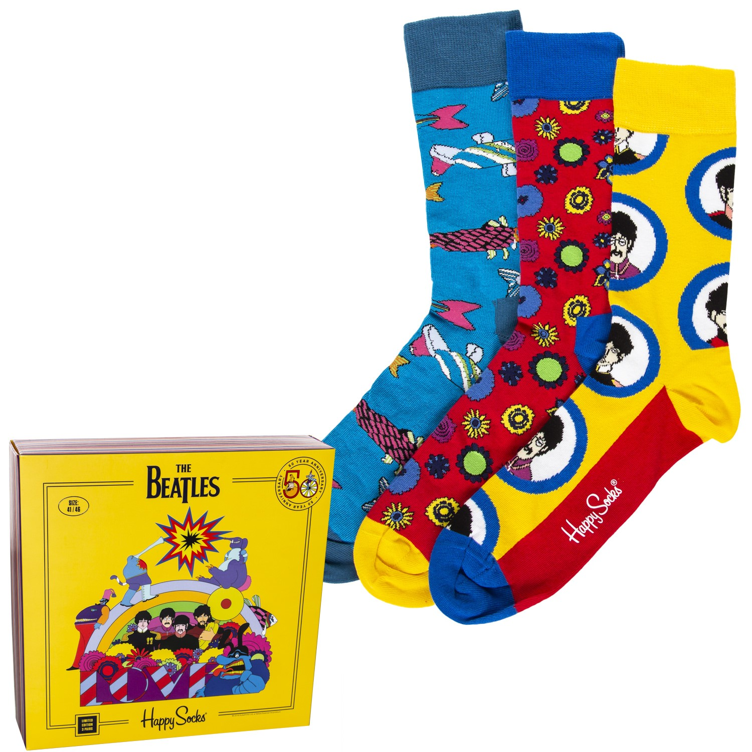 Image result for happy socks beatles 3 pack