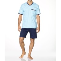 Calida Lucky Days Short Pyjama Blue Water