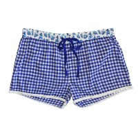 Pj Salvage Aqua Marine Gingham Short