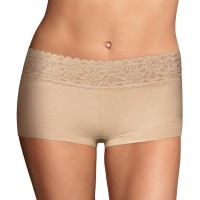 Maidenform Cotton Boyshort with Lace