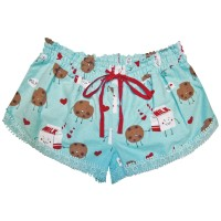 Pj Salvage Cookies And Milk Flannel Short